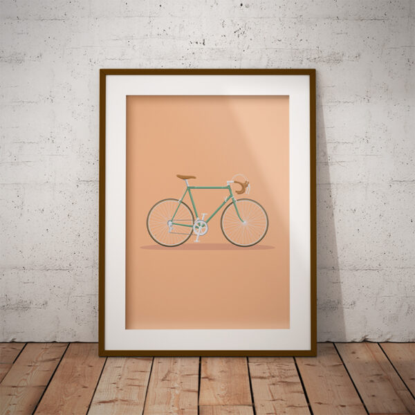 A3 Poster - Oude racefiets
